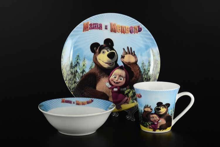 Маша и медведь Детский набор 3 предмета Royal Classics