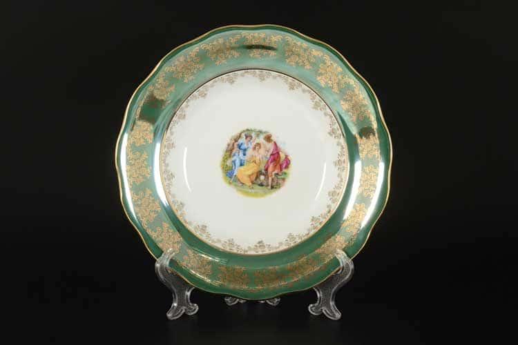 Зеленая Мадонна AL Набор глубоких тарелок Royal Porcelain 23 см из 6 штук