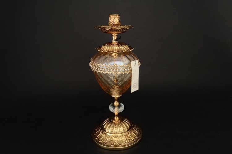 Подсвечник Franco C.S.r.l. золотой из стекла и керамики