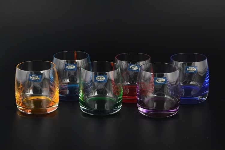 Идеал Арлекино Набор стаканов для виски Crystalite 230 мл (6 шт)