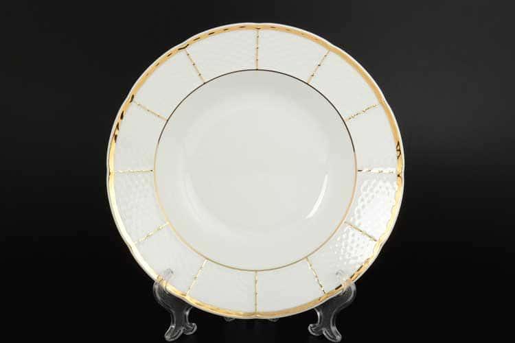 Менуэт Обводка золото Набор тарелок глубоких 23 см  Thun