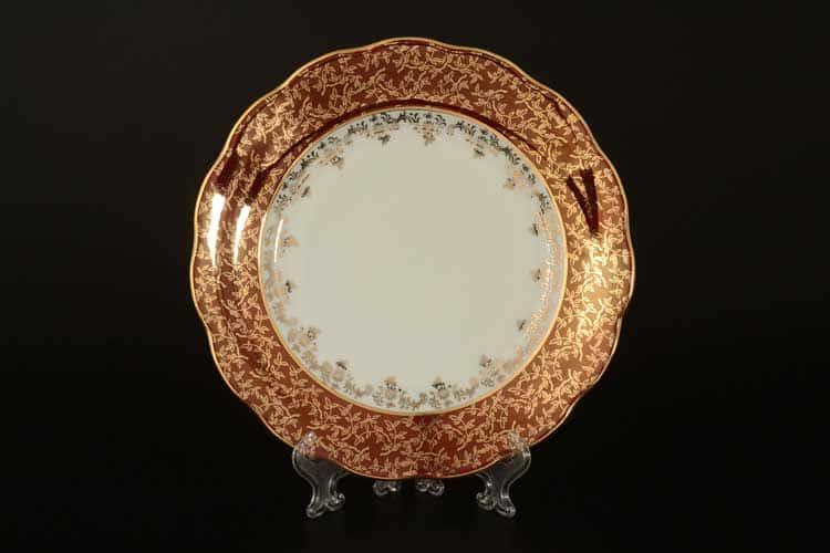 Красная паутинка б/т AL Набор тарелок Royal Porcelain 21 см из 6 штук