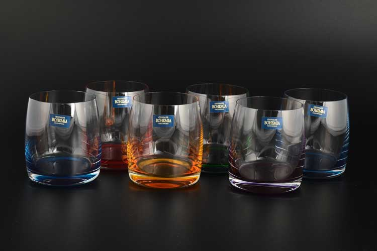 Идеал Арлекино Набор стаканов для виски Crystalite Bohemia  290 мл (6 шт)