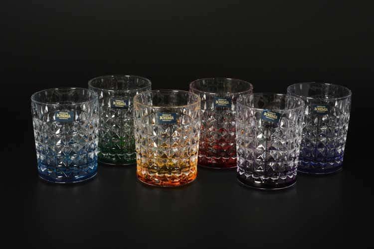 DIAMOND Ассорти Набор стаканов для виски Crystalite 230 мл (6 шт)