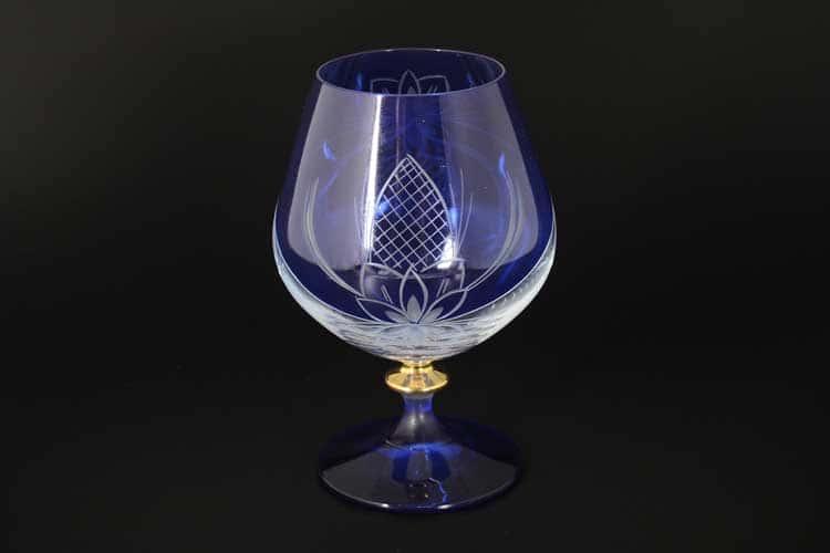 Звезда E-S синяя Набор бокалов для бренди 400 мл (6 шт)
