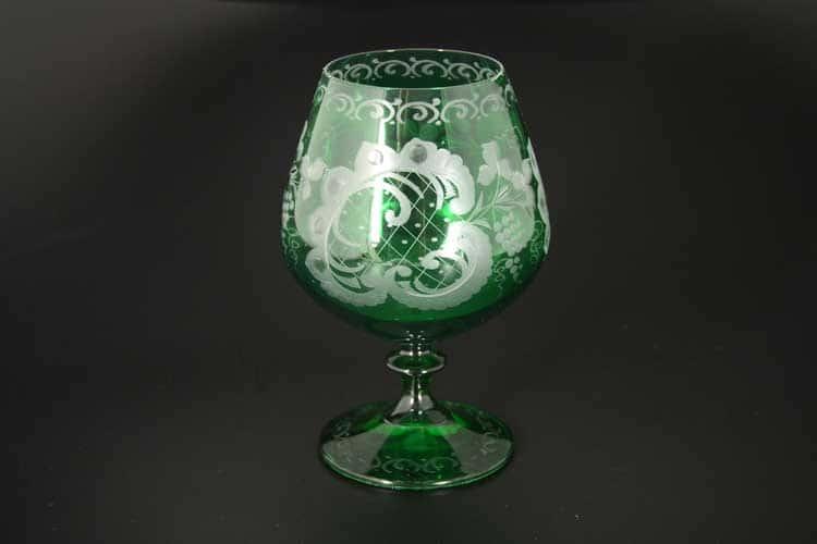 E-S зеленый Набор бокалов для бренди Bohemia (6 шт)