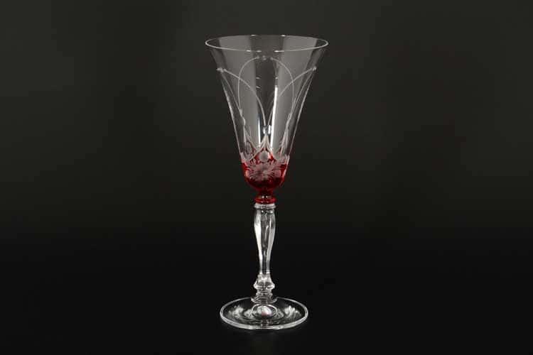 E-S красный Набор фужеров для вина Bohemia 190 мл (6 шт)