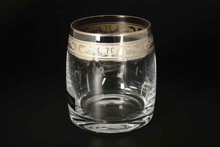 Идеал Платиновый узор Набор стаканов для виски Crystalite 290 мл (6 шт)