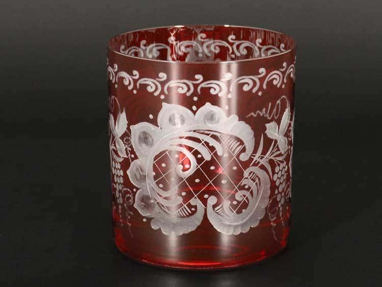 E-S красная Набор стаканов для виски 280 мл Bohemia (6 шт)