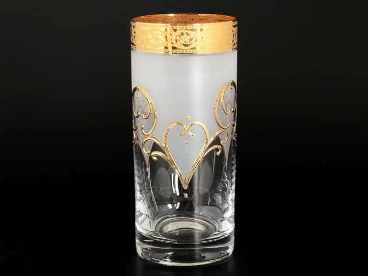 Tulip золото Набор стаканов для воды 300 мл 6 шт