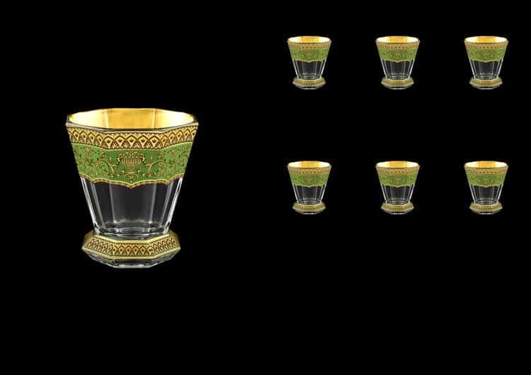 Версаче Глава Лаура зеленая Набор стаканов 6 шт 310 мл Astra Gold