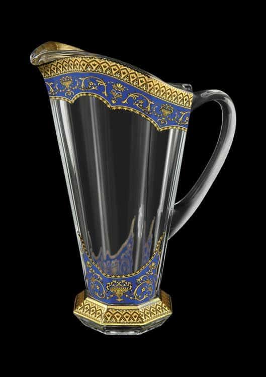Версаче Глава Лаура синяя Графин 1300 мл Astra Gold