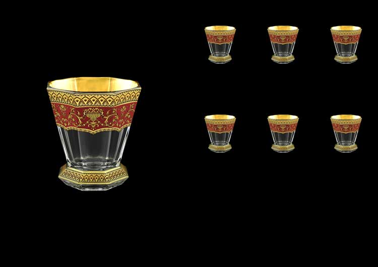 Версаче Глава Лаура красная Набор стаканов для виски 6 шт 310 мл Astra Gold