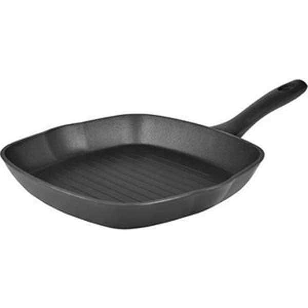 Rondell Сковорода-гриль с желобками для слива 28х28 cм.