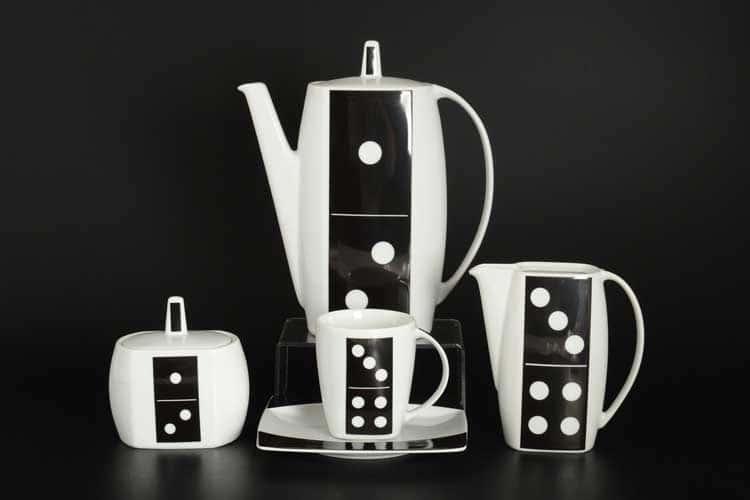 Домино EYE Кофейный сервиз Thun на 6 персон 17 предметов