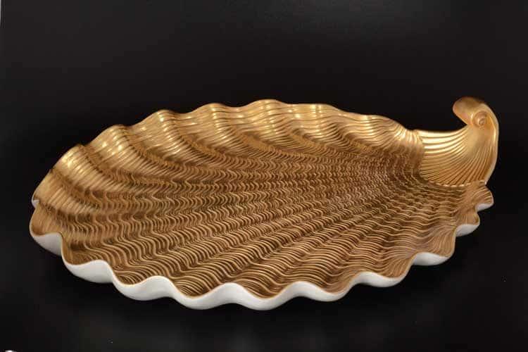 CATTIN Поднос ракушка 52 см золотой