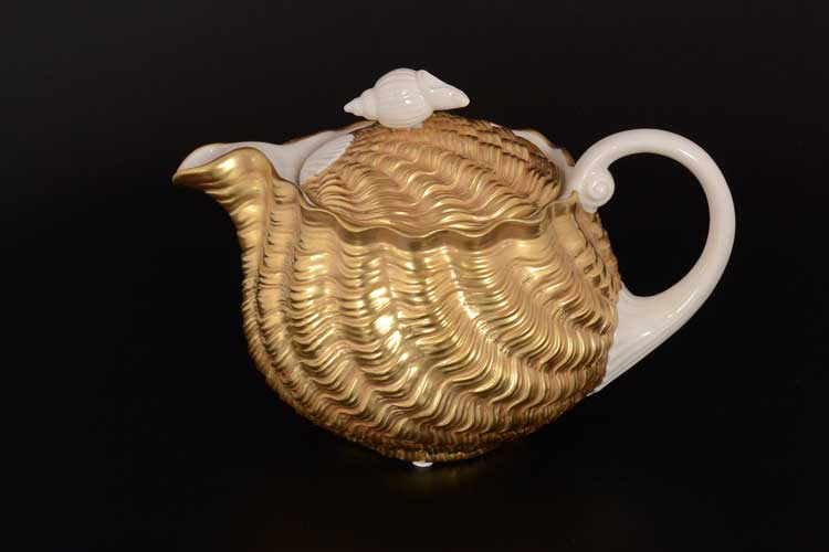 CATTIN Чайник из фарфора золотой