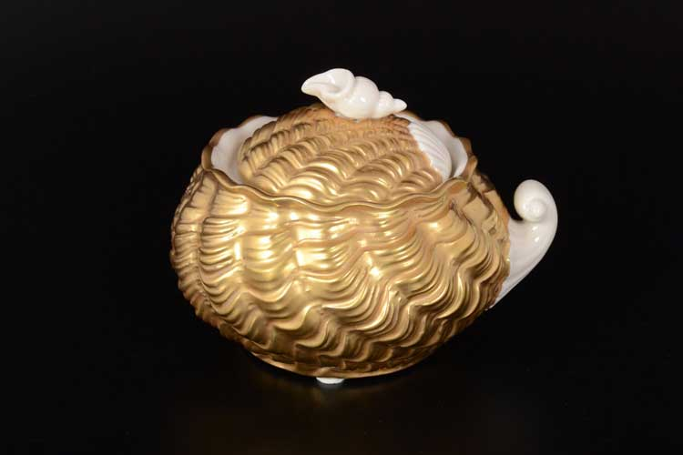 CATTIN Сахарница с крышкой из фарфора золотая