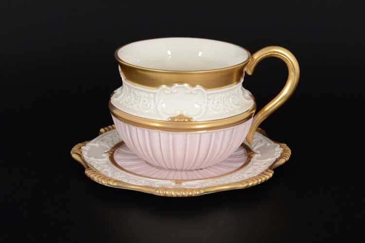CATTIN розовый Набор чайных пар (2 пары) из фарфора