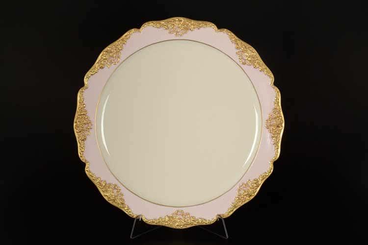 CATTIN розовый Блюдо круглое 33 см из фарфора
