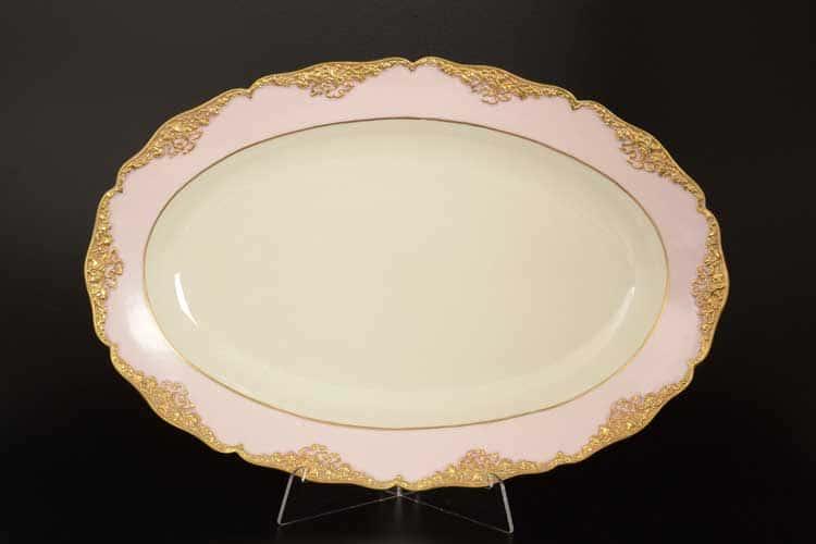 CATTIN розовый Блюдо овальное 40 см из фарфора