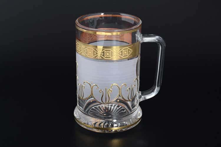 M-H золото Кружка для пива 0,5 л стекло Чехия