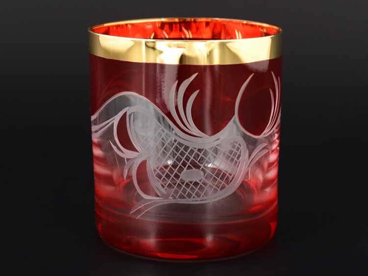 E-S 120 красный Набор стаканов для виски 280 мл E-V