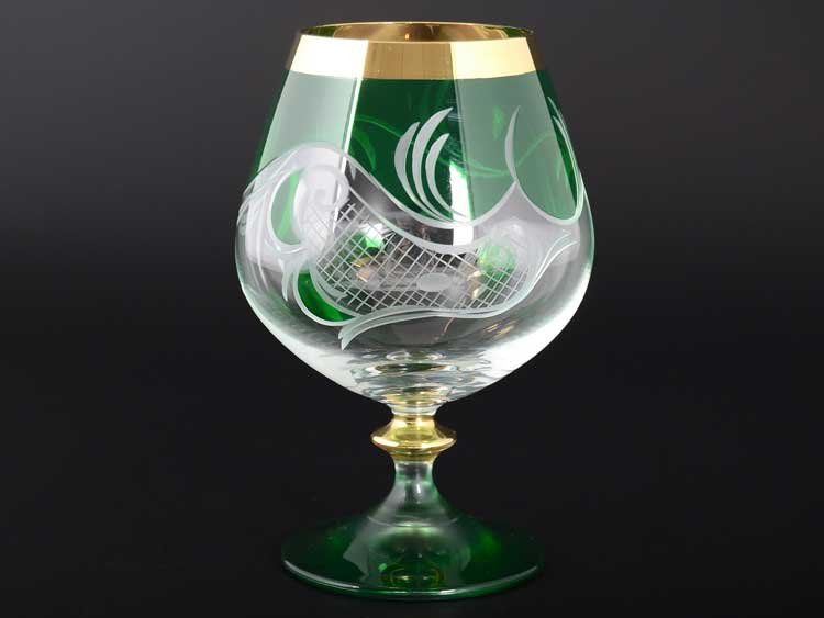 E-S 120 зеленый Набор бокалов для бренди Bohemia 400 мл E-V
