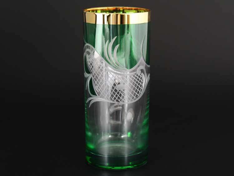 E-S 120 зеленый Набор стаканов для воды Bohemia 300 мл E-V