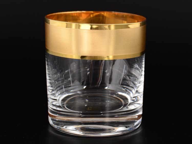Матовая полоса R-G Набор стаканов для виски Bohemia 280 мл (6 шт)