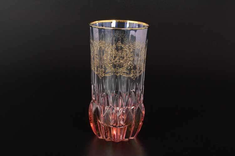 TIMON красный Набор стаканов для воды из хрусталя Италия