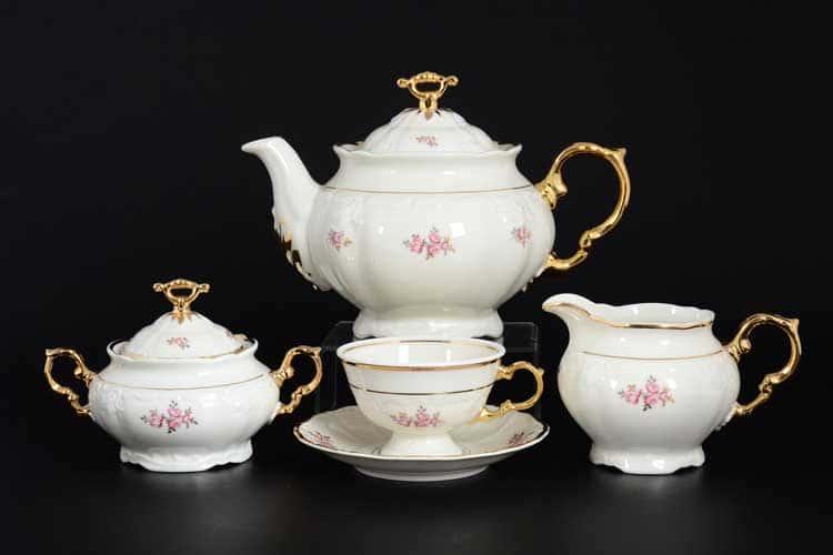 Мария Луиза Чайный сервиз Thun на 6 персон 17 предметов
