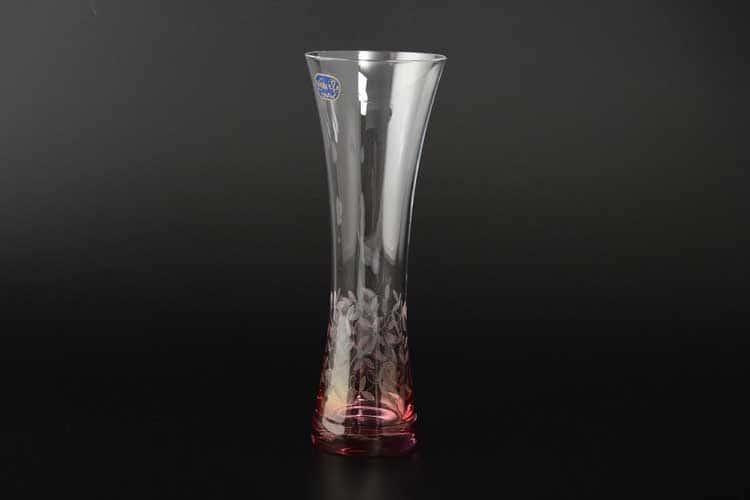 Кристалекс красный Ваза для цветов Bohemia Crystal 19.5 см