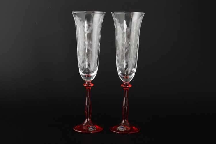 Анжела Свадебные Набор фужеров для шампанского 180 мл Кристалекс  (2 шт)