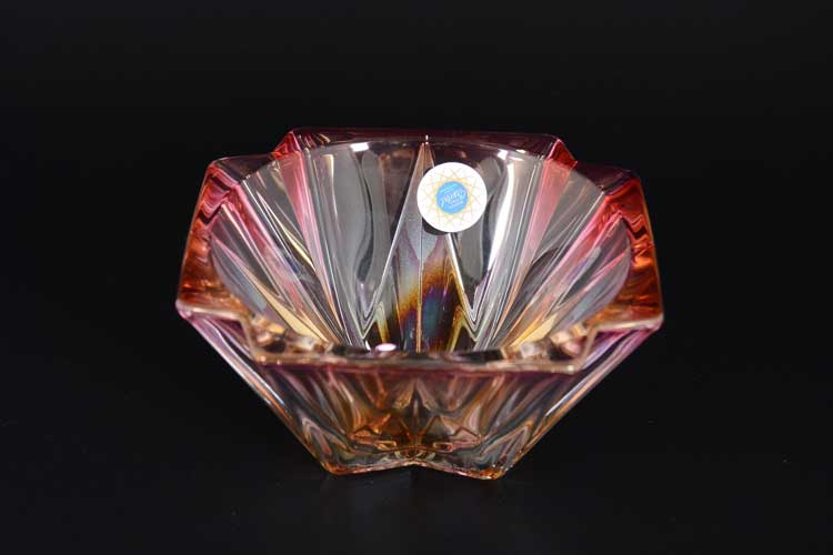 METROPOLITAN R-G Конфетница красная Crystal 14,5 см