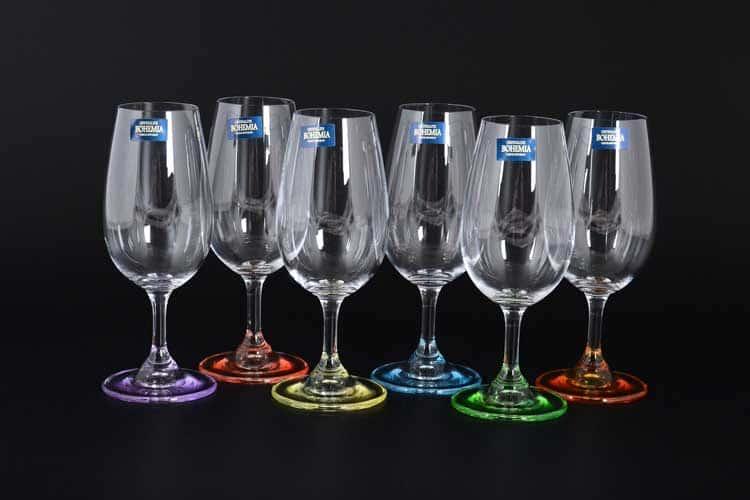 GASTRO Арлекино Набор бокалов для вина Crystalite 210 мл (6 шт)