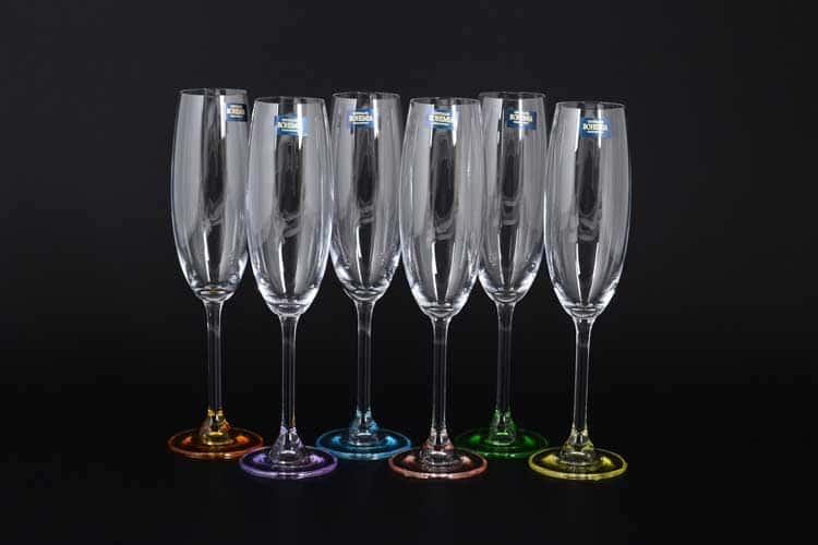 GASTRO Арлекино Набор фужеров для шампанского Crystalite 220 мл (6 шт)