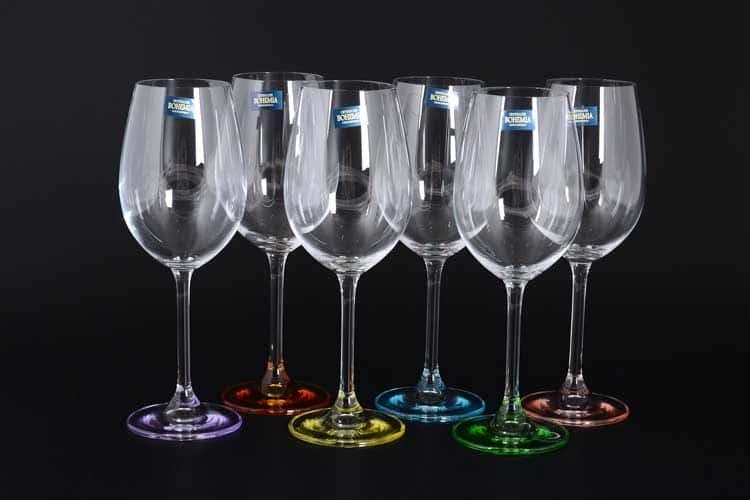 GASTRO Арлекино Набор бокалов для вина 450 мл Crystalite Bohemia (6 шт)