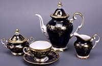 Кофейный сервиз Ювел синий 15 предметов Weimar Porzellan