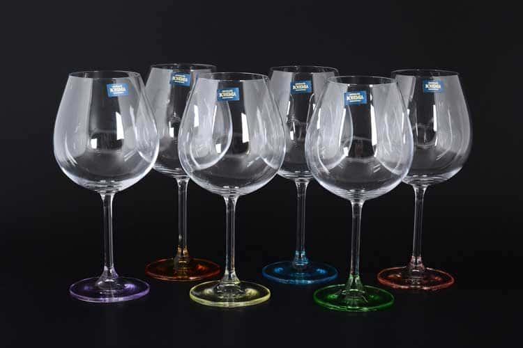 GASTRO Арлекино Набор бокалов для вина Crystalite Bohemia 650 мл (6 шт)