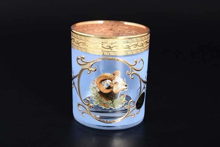 Версаче Охота синяя Б-Г Набор стаканов для виски Balvinglass (6 шт)