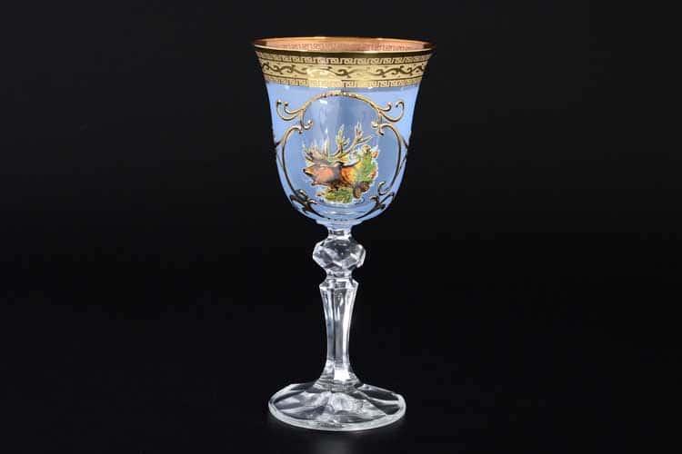 Охота синяя Кристина Набор бокалов для вина (6 шт) B-G