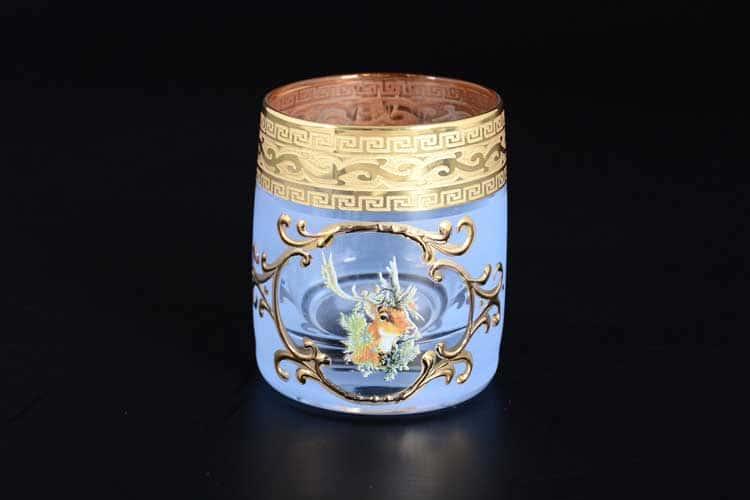 Охота синяя Версачe B-G Набор стопок для водки 60 мл (6 шт)