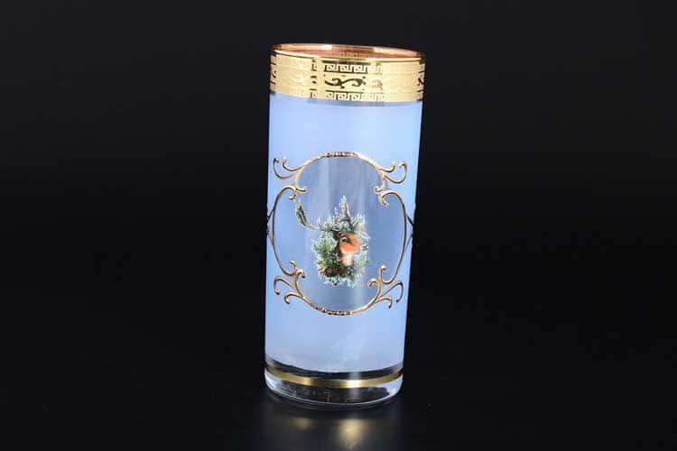 Версаче Охота синяя B-G Набор стаканов для воды (6 шт)