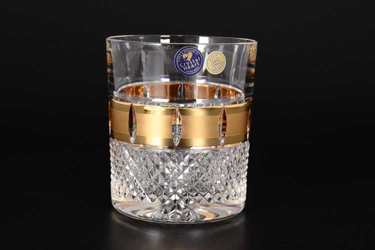 Матовая Набор стаканов для виски 320 мл CRYSTAL HEART