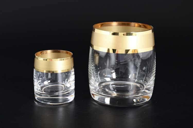 Матовая полоса B-G фон Набор стаканов для виски (6 шт) и стопок для водки 60 мл (6 шт)