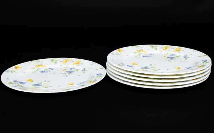 Сиреневый цветок Набор тарелок Rulanda 6 шт. 20 см