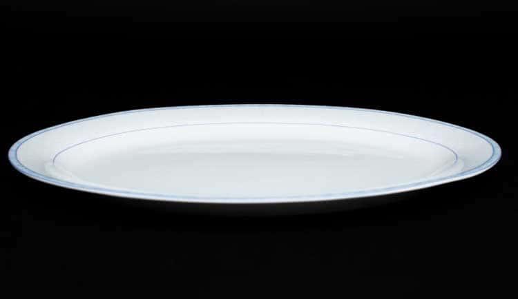 Утренний Овальное блюдо 30 см костяной фарфор Rulanda