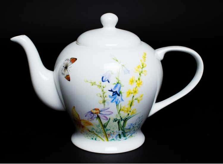 Дейзи Бабочки Чайник из костяного фарфора 1 литр Rulanda