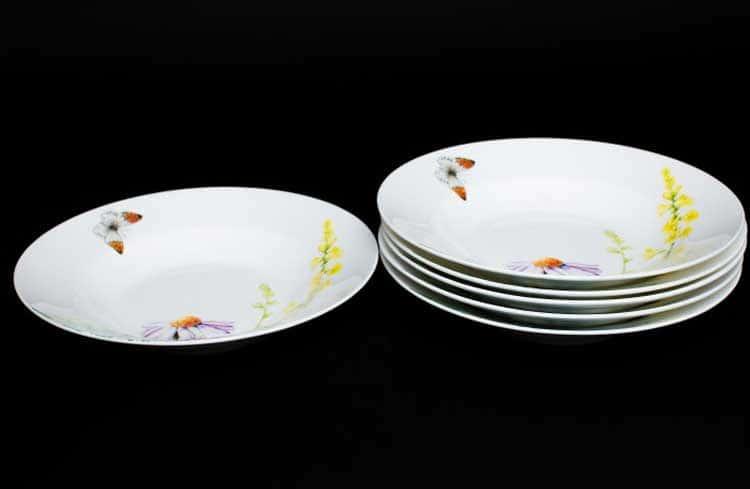 Дейзи Бабочки Набор тарелок Руланда 6 шт. 23 см (суп)